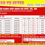 Bảng giá dịch vụ VPS Việt Nam
